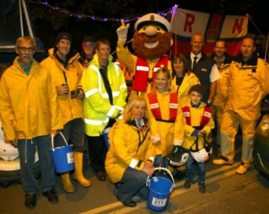 Exmouth RNLI at the carnival with Stormy Stan