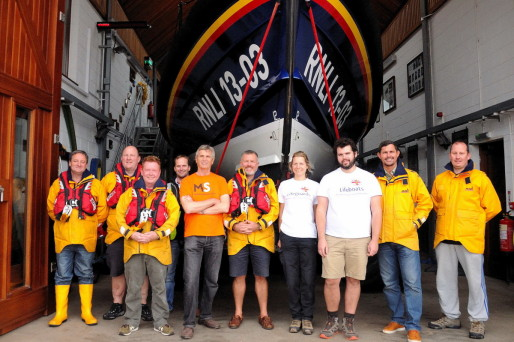 Jurassic Coast walk - Meeting the crew at Exmouth Lifeboat Station