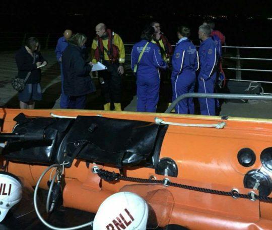 PR010916 Lifeboat and Coastguard volunteers